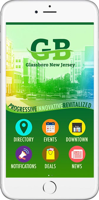 Glassboro, NJ MyDowntown Mobile App Sample